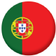 Portugal Country Flag 58mm Mirror Keyring